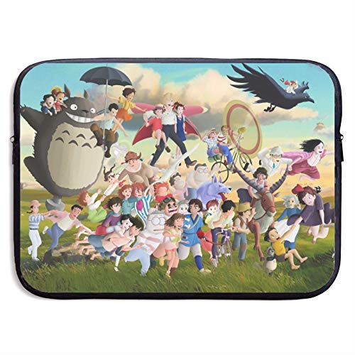 Totoro Cartoon Laptop Sleeve Bag Tablet Fashion Briefcase Ultra Portable Protective Cover MacBook Air MacBook Pro Notebook Computer Sleeve Case 13 inch