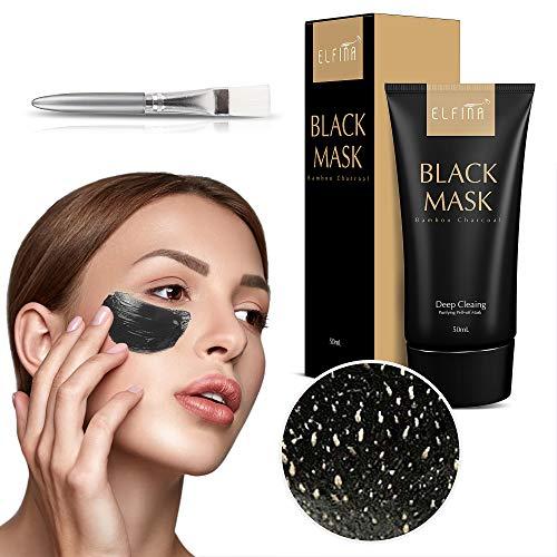 Elfina Black Mask Blackhead Remover Maske für Gesicht Nase Akne Schwarze Gesichtsmaske Peel-Off Maske für Mitesser Ölkontrolle