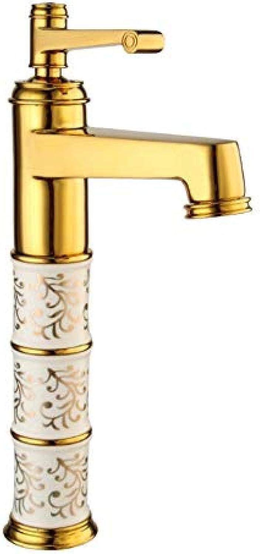 Wasserhahn-1 Set Gold New Bad Wasserhahn Kran-Mischbatterie Wasserhahn Kalt- und Warmwasserhahn Einhand-Wassermischer im modernen Stil