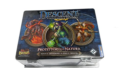 Giochi Uniti- Descent Viaggi nelle Tenebre: Protettori della Natura Runebound Gioco da Tavolo, Multicolore, GU474