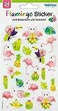 Dekorative Sticker 'Flamingo' 24 Stück mit Geloptik: VE: 10