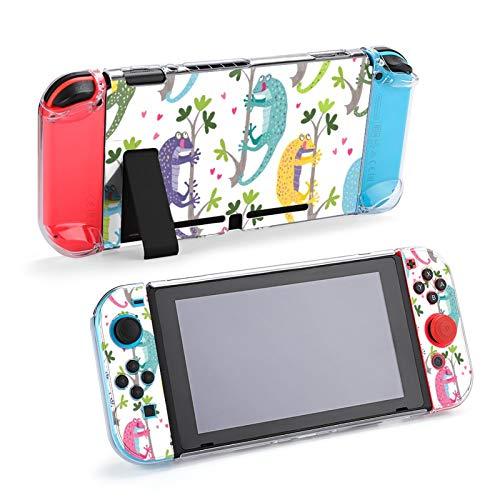 Geckos Coloridos Lindos Que cuelgan en Las Ramas Funda Protectora de Accesorios para Nintendo Switch, Funda acoplable para Consola Nintendo Switch