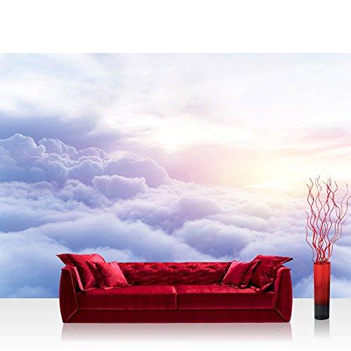 Fototapete 368x254 cm PREMIUM Wand Foto Tapete Wand Bild Papiertapete - Himmel Tapete Wolken Sonne Sonnenaufgang weiß - no. 2928