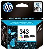 HP 343 C8766EE - Cartucho de Tinta Original,Compatible con impresoras de inyección de tinta HP Officejet6210, 6310, 6313, 7110,7310xi, 7410xi, Photosmart 2610, 2710, 2713, 425; PSC Serie2355, Tricolor