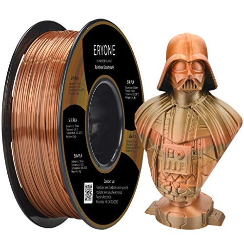 ERYONE Steampunk Rainbow PLA 1.75mm Filament for 3D Printer 1kg