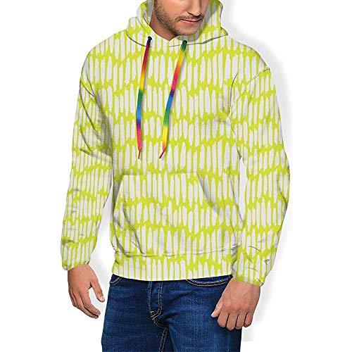Alan Connie Männer 'S Hoodie Verdicken Flusen Sweatshirt, Abstrakten Hintergrund Mit Vorsicht Tape Inspiriert Rahmen Grenzen,2XL