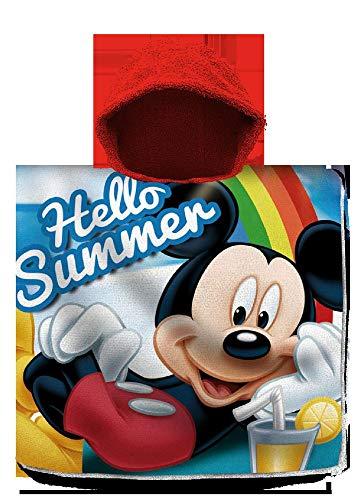 Mickey Mouse Poncho Toalla Playa Algodon 120X60Cm De Mickey
