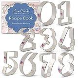 Ann Clark Cookie Cutters Numbers Cookie Cutter Set - 9 Piece - Tin