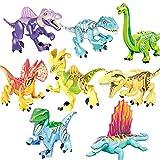 FUBINMY Figuras Bloques de construcción Mundo 2 Dinosaurios Figuras de acción Ladrillos Montar niños Niños Juguetes Regalos Tyrannosaurus Rex Indominus I-Rex Muñecos (Color : 8pcs 07)