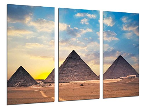 Poster Fotográfico Paisaje Piramides Egipto Atardecer Tamaño total: 97 x 62 cm XXL