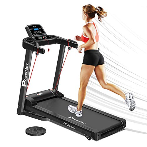 PowerMax Fitness TDM-99 2HP (4HP Peak) Motorized Treadmill with Free Installation Assistance, Home Use & Automatic Programs