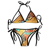 African Paintings of Women Bikini Women's Summer Swimwear Triangle Top Bikinis Swimsuit Sexy 2-Piece Set