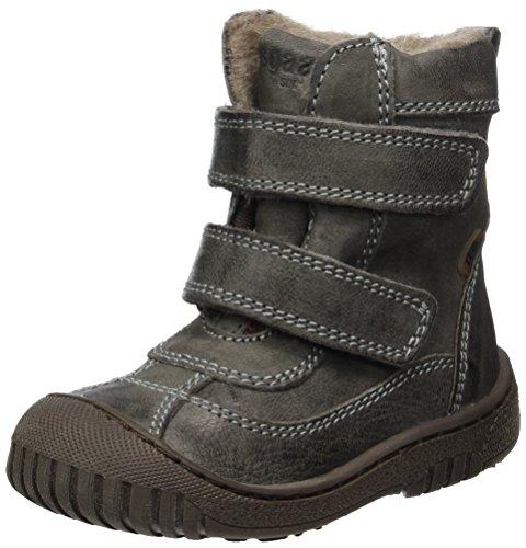 Bisgaard Unisex dziecięce buty na rzepy, śniegowce, szary - szary 402 Grey - 34 EU