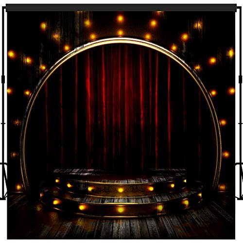 musykrafties fotografie achtergrond achtergrond partij muur Photo Booth Props 10x10ft, 1614 Moulin Rouge Musical Setting Stage and Stairs