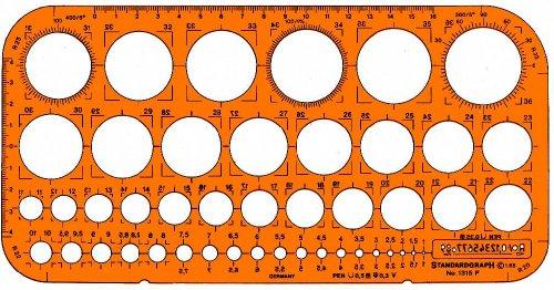Standardgraph 1315F Zeichenschablonen Kreisbogenschablone