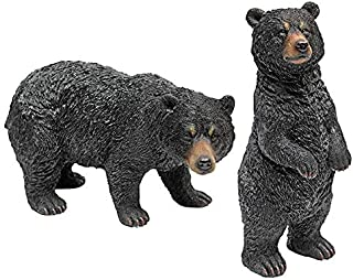 Design Toscano Black Bear Statue Set, Multicolored
