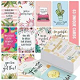 Dessie Motivational Cards - 63 Unique Inspirational Cards. Business Card Sized Encouragement Cards. Gifts for Employees, Thinking of You Gifts, Appreciation Cards, Kindness Cards, Lunch Box Notes