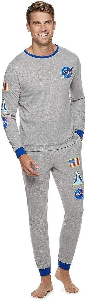 Mad Engine Men's NASA Logo Space Your Boston Mall Ranks Suit shopping Pajamas Earn