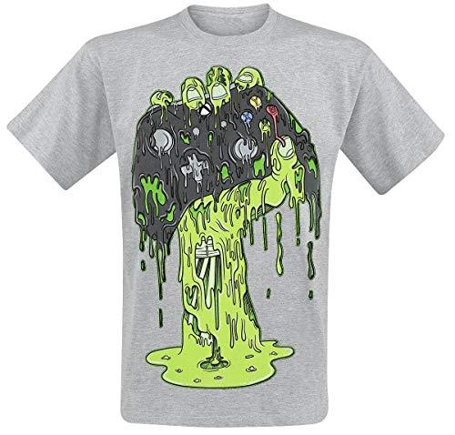 Xbox Zombie Hand Hombre Camiseta Gris/Melé L, 97% algodón, 3% Poliester, Regular