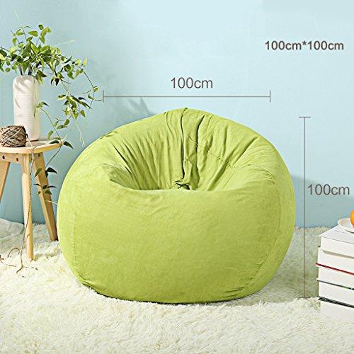 Simple Salon Lazy Sofa80 * 80cm (Couleur : Green, Taille : 100 * 100cm)
