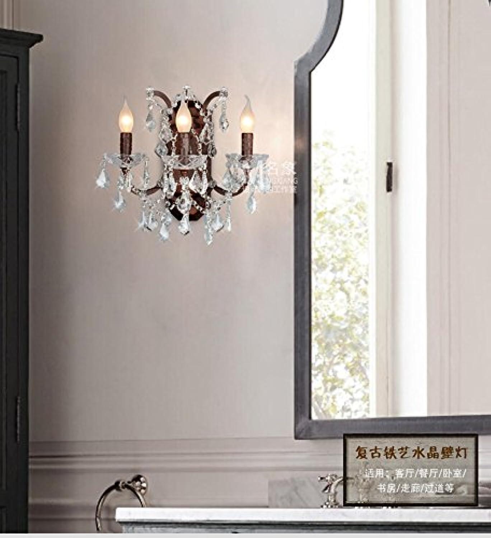 StiefelU LED Wandleuchte nach oben und unten Wandleuchten Leiter der lndlichen Schlafzimmer Wohnzimmer Wand Lampen treppen Flure Hotel antique Crystal, gemeinsamen Lichtquelle