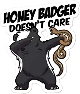 Deal Zillas Cute Honey Badger Stickers Honey Badger Doesn't Care