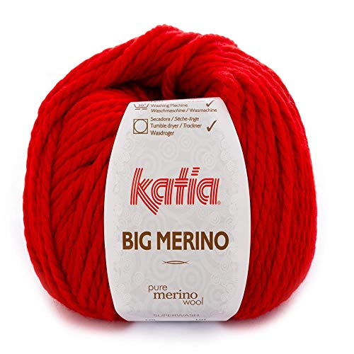 Lanas Katia Big Merino Ovillo de Color Rojo Cod. 4