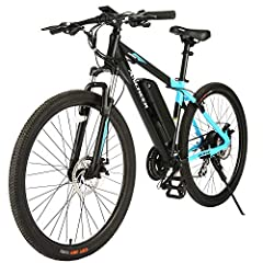 350W POWERFULL MOTOR: The mountain ebike BLUE SPARK is equipped with 350W high speed brushless motor, providing more than enough to power your daily commute, a cruise on the mountain, or a meander along your favorite trail. With speeds up to 20 mph, ...