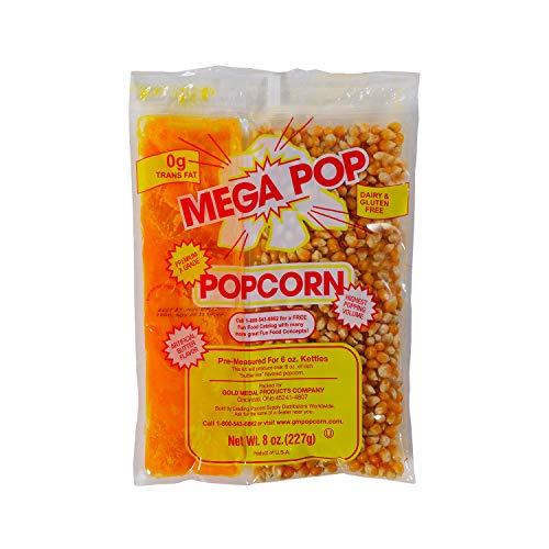 Beach City Wholesalers Mega-Pop Popcorn Packet w/coconut oil 8 oz for 6 oz kettle (36 count)