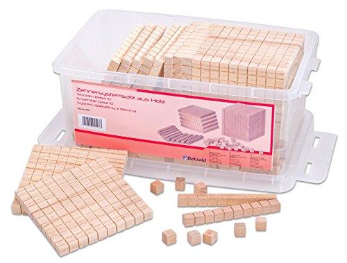 Betzold 2998 - Dienes-Material Holz-Würfel Zehnersystem-Satz - Dezimalsystem-Satz