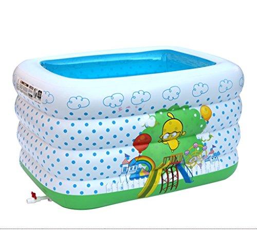 HCJCQYG FJXLZ® Baignoire Gonflable, bébé Gonflable Piscine Isolation Augmenter épaississement Enfant Baignoire Pliable Isolation Plus épaisse Pliant Baignoire (Couleur : #2)