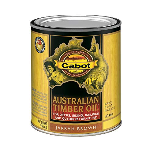 Cabot 140.0003460.005 Australian Timber Oil Stain, Quart, Jarrah Brown