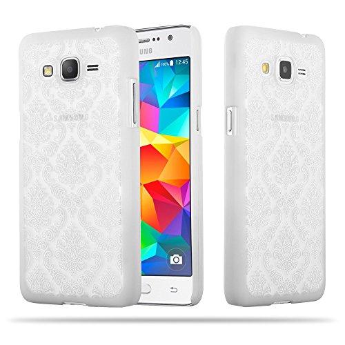 Cadorabo Samsung Galaxy Grand Prime Funda de Plástico Duro Mandala en Blanco – Cubierta Protectora Super Delgada e Inflexible con Antichoque – Case Cover Carcasa Protección Ligera