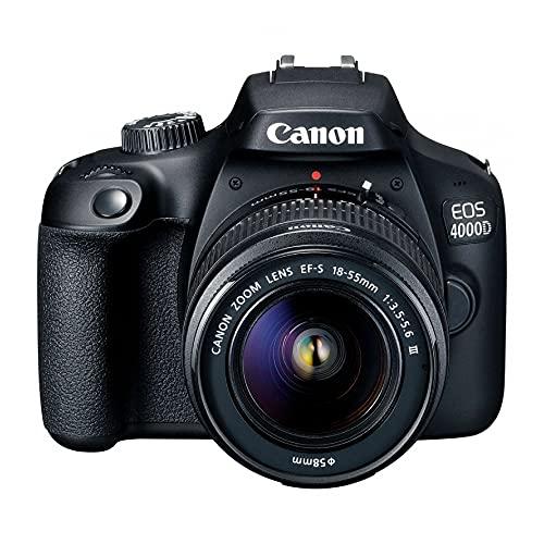 Câmera Fotográfica DSLR EOS 4000D EF-S 18-55 DC III CANON