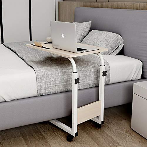 SUMBITOD Medizinische Beistelltische, rechteckige kleine Beistelltische, mobiler Laptoptisch, einfacher Lesetisch, für Schlafzimmer im Wohnzimmer (Color : B)