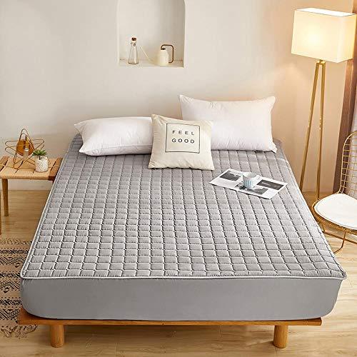 HPPSLT Protector de colchón - Protector de colchón antialérgico Sábana Gruesa Impermeable de una Sola pieza-10_180cmx220cm