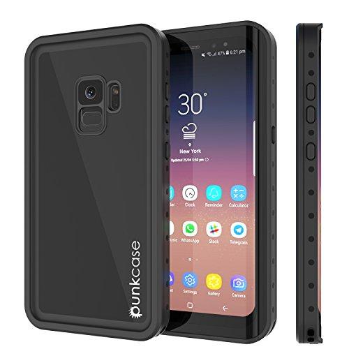Galaxy S9 Waterproof Case, Punkcase [StudStar Series] [Slim Fit] [IP68 Certified] [Shockproof] [Dirtproof] [Snowproof] Armor Cover for Samsung Galaxy S9 [Black]