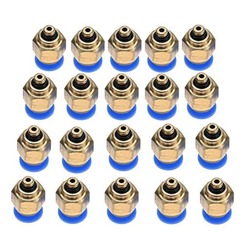 Connettore a spinta diritta per tubo pneumatico da 4 mm per collegamento rapido (PC4-M5 20 pezzi)
