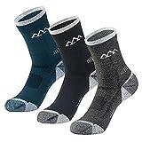 innotree 3 Pack Men's Merino Wool Hiking Socks, Full Cushioned Hiking Walking Socks Moisture Wicking...