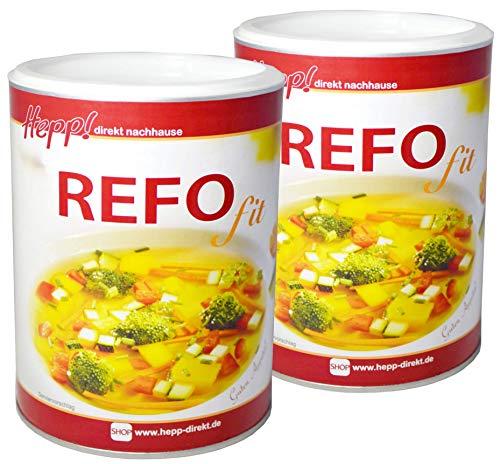 Hepp GmbH & Co KG - Refo - Fit Delikate Suppe - Cholesterinfrei - Kalorienarm 1200 (2 x 600) GR