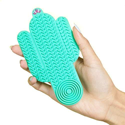 3INA MAKEUP - Vegan - Cruelty Free - The Cactus Cleanser - Pad Silicone Pulizia Pennelli -Tappettino per Pulire Pennelli da Trucco