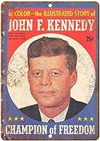 John F. Kennedy Champion of Freedom ティンサイン ポスター ン サイン プレート ブリキ看板 ホーム バーために