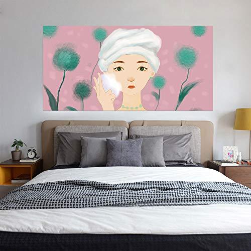 pegatinas decorativas pared el dormitorio junto a la cama calcomanías extraíbles bricolaje, sala de estar sofá papel pintado 3D actualización de vinilo profesional, chica diente de león