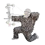 QuikCamo 3D Leafy Camo Suit, Mossy Oak New Bottomland Camo for Turkey Hunting, Airsoft, Paintball, Tactical Birdwatching and Wildlife Photography Ghillie Suit, Wear Over Clothing (Small/Medium)