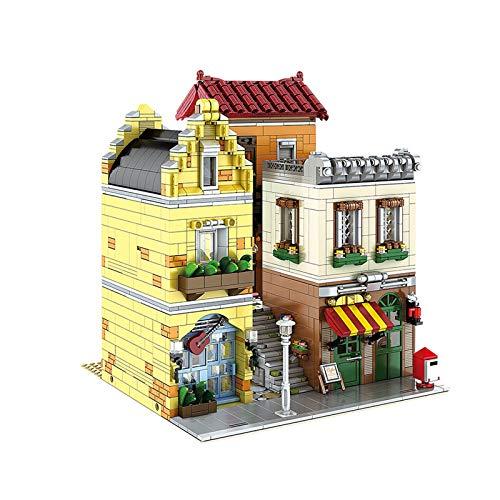 HLONGG Kit De Construcción De Cafetería (3103Pieces); Creative City BlocksToy para Niños, Preparación De Nuevo Regalo De Cumpleaños 2021,M