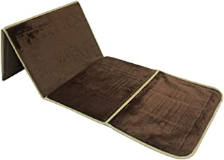 Foldable Prayer mat and Backrest 2 in 1, B-Dark Brown