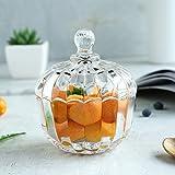H·Aimee Bomboneras de Cristal con Tapa - Conjunto de 1,Bote Cristal para Galletas Caramelo de Menta Tarro de Dulces Chuches