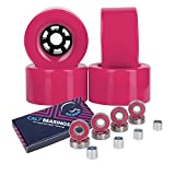 Cal 7 83mm 78A Cruiser Skateboard Wheels, Longboard Flywheel (Solid Pink)
