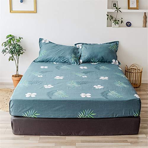 huyiming Bed sheet enkele stuk beschermhoes Stofhoes bruin bed cover matras set effen kleur 1.2/1.5/1.8 bed