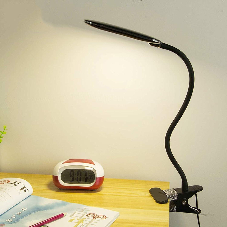 DEED Tischlampe Wohnzimmer, Schlafzimmer Nachttischlampe, Led Clip Light Dimmable Auge Gepflegtes Leselicht mit 360 Grad Flexibler Hals